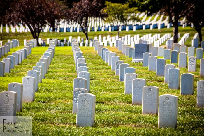 Rows upon rows at the Ft. Leavenworth cemetery.
