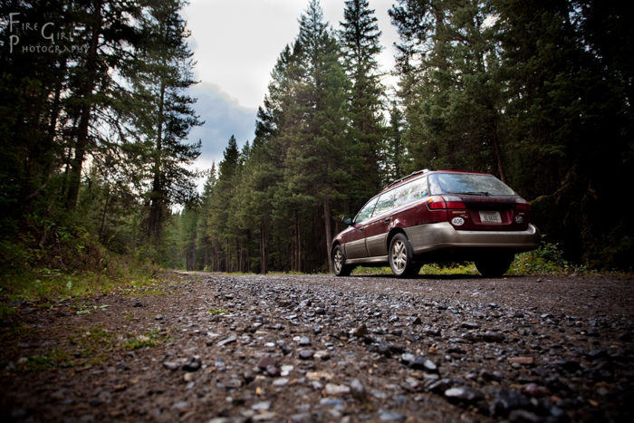 The traveling veteran, the Fire Girl Subaru, on an adventure in the Gallatin Range, southwestern Montana.