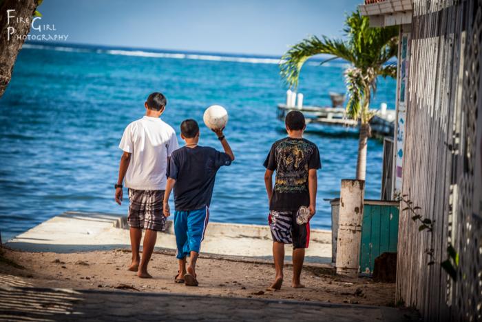 Street boys in San Pedro, Belize.