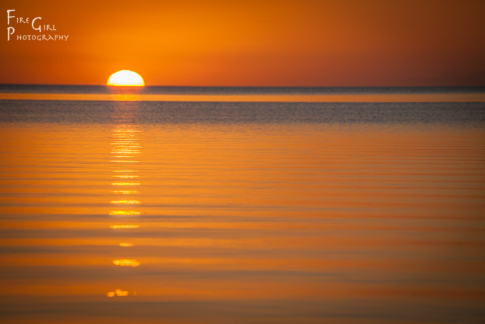 Sunset on the West side of Ambergris Caye.