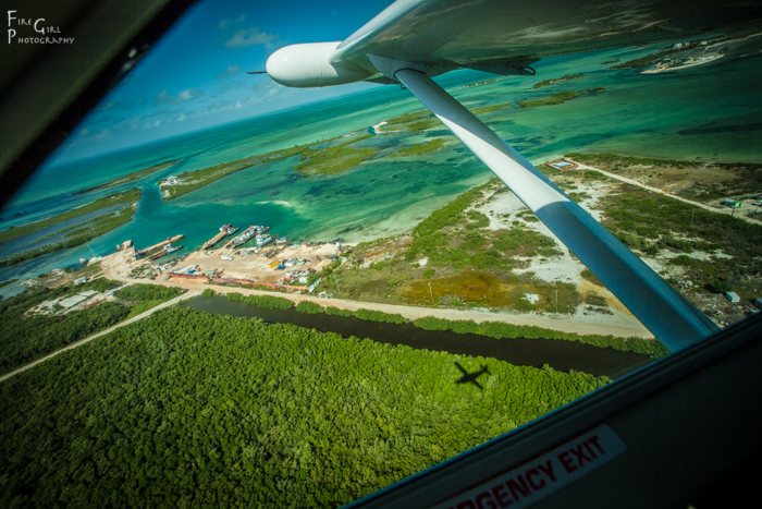 Riding copilot on the flight out of Ambergris Caye to Belize City.