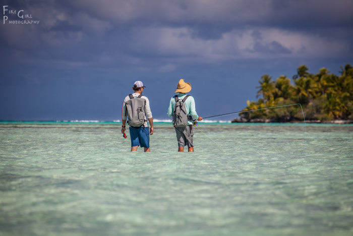 Matt Shilling and Oliver White hunt for bonefish, bluefin trevally, and whatever else might be around.  Anaa, French Polynesia.