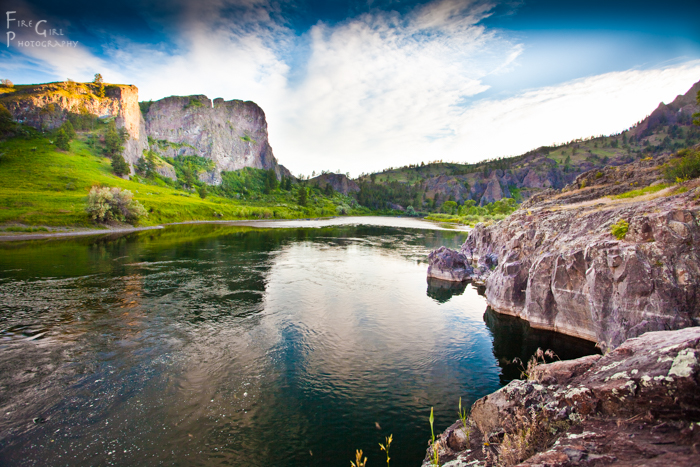 The full glory of summer at Mountain Palace, on Montana's Missouri River.