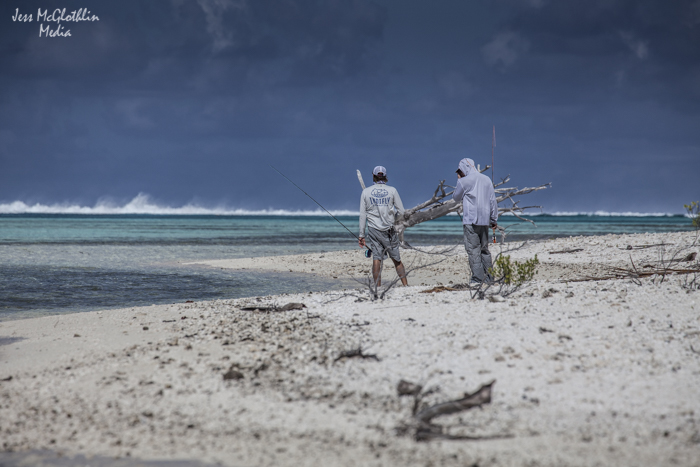 Oliver and Joel explore the motus of Anaa atoll.