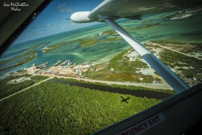 Not a bad view. Riding copilot on the flight out of Ambergris Caye to Belize City.